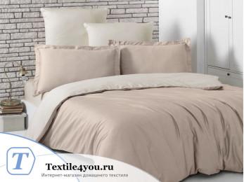 Постельное белье KARNA LOFT двухстороннее (1,5 спальный) Кофейный - Бежевый