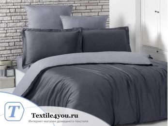 Постельное белье KARNA LOFT двухстороннее (1,5 спальный) Темно-серый - Серый