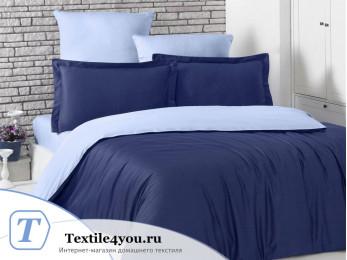 Постельное белье KARNA LOFT двухстороннее (1,5 спальный) Темно-синий - Голубой