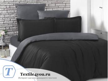 Постельное белье KARNA LOFT двухстороннее (1,5 спальный) Черный - Темно-серый