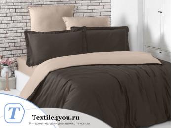 Постельное белье KARNA LOFT двухстороннее (1,5 спальный) Шоколадный - Кофейный