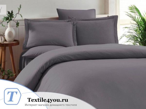 Постельное белье KARNA RUYA Бамбук Сатин (Евро) - Серый