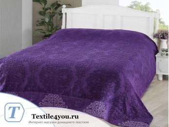 Простынь махровая KARNA OTTOMAN (160x220 см) - Фиолетовый