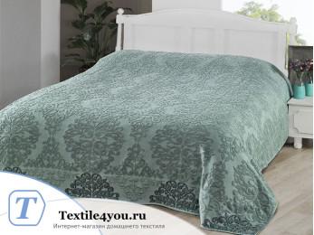 Простынь махровая KARNA OTTOMAN (160x220 см) - Зеленый