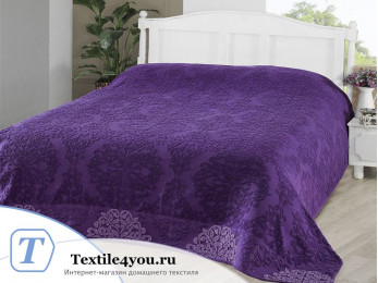 Простынь махровая KARNA OTTOMAN (200x220 см) - Фиолетовый