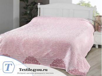 Простынь махровая KARNA OTTOMAN (200x220 см) - Розовый