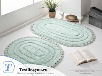 Набор ковриков для ванной MODALIN YANA (60x100 см; 50x70 см) - Ментол