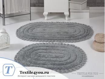 Набор ковриков для ванной MODALIN YANA (60x100 см; 50x70 см) - Серый