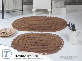 Набор ковриков для ванной MODALIN YANA (60x100 см; 50x70 см) - Горчичный
