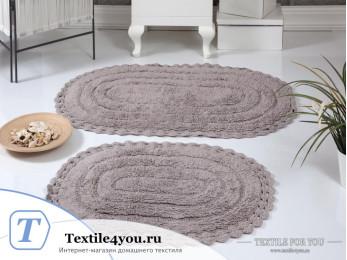 Набор ковриков для ванной MODALIN YANA (60x100 см; 50x70 см) - Мокко