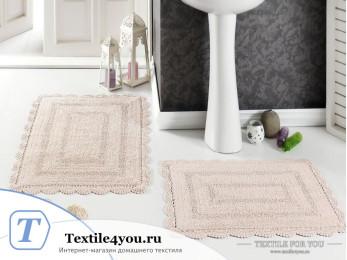 Набор ковриков для ванной MODALIN EVORA (60x100 см; 50x70 см) Абрикосовый