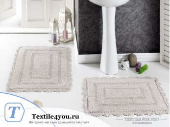Набор ковриков для ванной MODALIN EVORA (60x100 см; 50x70 см) Бежевый