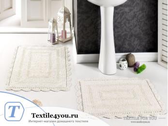 Набор ковриков для ванной MODALIN EVORA (60x100 см; 50x70 см) Кремовый