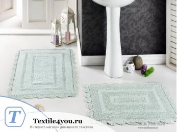 Набор ковриков для ванной MODALIN EVORA (60x100 см; 50x70 см) Зеленый