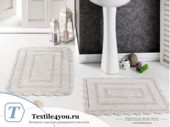 Набор ковриков для ванной MODALIN EVORA (60x100 см; 50x70 см) Молочный (Екрю)