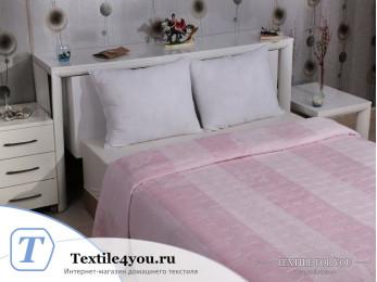 Плед KARNA PALMA Велсофт Жаккард (220x240 см) - Розовый