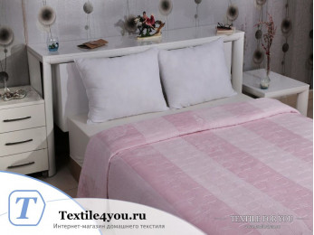 Плед KARNA PALMA Велсофт Жаккард (160x220 см) - Розовый