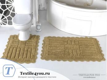 Набор ковриков для ванной MODALIN ANCOR (60x100 см; 50x70 см) Бежевый