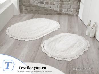 Набор ковриков для ванной MODALIN LOKAL (60x100 см; 50x70 см) Кремовый