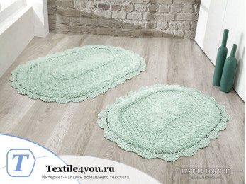 Набор ковриков для ванной MODALIN LOKAL (60x100 см; 50x70 см) Ментол