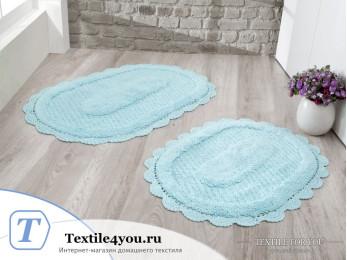 Набор ковриков для ванной MODALIN LOKAL (60x100 см; 50x70 см) Бирюзовый