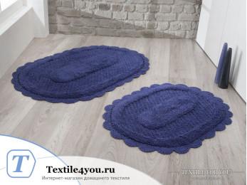 Набор ковриков для ванной MODALIN LOKAL (60x100 см; 50x70 см) Синий