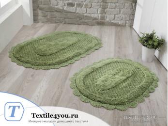 Набор ковриков для ванной MODALIN LOKAL (60x100 см; 50x70 см) Зеленый