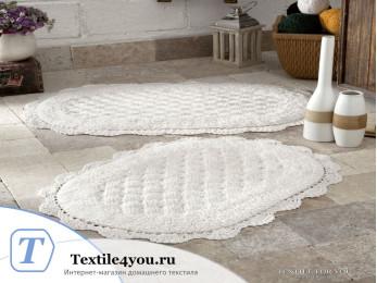Набор ковриков для ванной MODALIN MERIT (50x80 см; 45x60 см) Кремовый