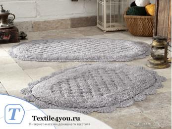 Набор ковриков для ванной MODALIN MERIT (50x80 см; 45x60 см) Серый