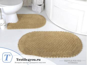 Набор ковриков для ванной MODALIN PRIOR (60x100 см; 50x70 см) Бежевый