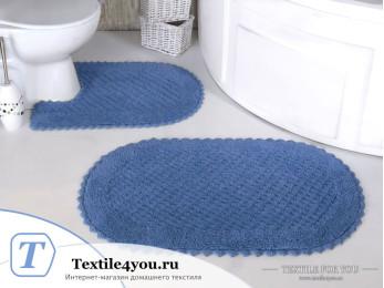 Набор ковриков для ванной MODALIN PRIOR (60x100 см; 50x70 см) Голубой