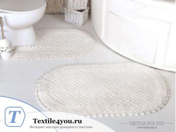 Набор ковриков для ванной MODALIN PRIOR (60x100 см; 50x70 см) Кремовый