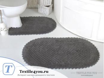 Набор ковриков для ванной MODALIN PRIOR (60x100 см; 50x70 см) Серый