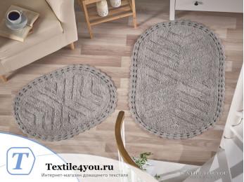 Набор ковриков для ванной MODALIN CROSS (60x100 см; 50x70 см) Серый