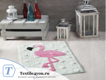 Коврик для ванной MODALIN MOON (50x80 см) V3 Фламинго