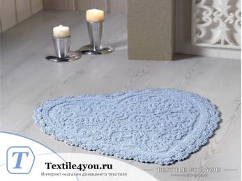 Коврик для ванной MODALIN SISLEY кружевной (60x65 см) Голубой