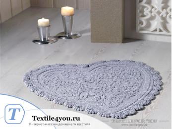 Коврик для ванной MODALIN SISLEY кружевной (60x65 см) Серый