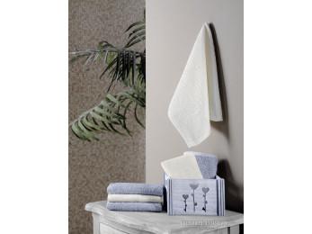 Салфетки махровые KARNA FLORI в корзине (30x30 см - 6 шт.) - Серый