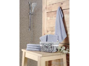 Салфетки махровые KARNA PRUVA в корзине (30x30 см - 6 шт.) - Серый
