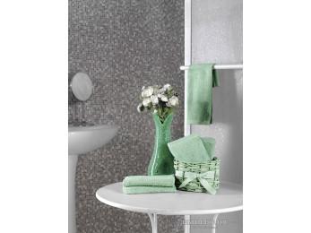 Салфетки махровые KARNA TWIST в корзине (30x30 см - 5 шт.) - Зеленый
