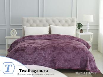 Плед KARNA DARVIN Велсофт Жаккард (220x240 см) - Фиолетовый