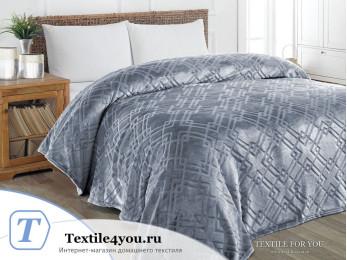 Плед KARNA PIRAMIT Велсофт Жаккард (160x220 см) - Темно-серый