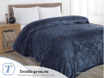 Плед KARNA PIRAMIT Велсофт Жаккард (160x220 см) - Синий