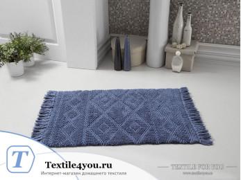Коврик для ванной MODALIN LOTUS (50x80 см) - Синий