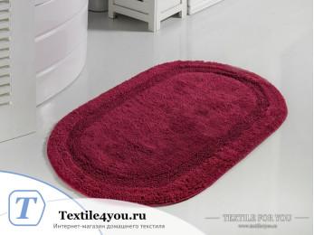 Коврик для ванной MODALIN RACET (60x100 см) - Бордовый