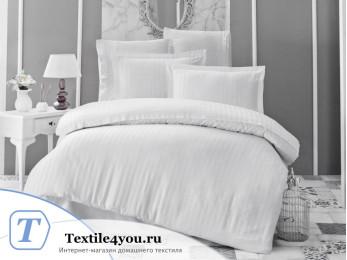 Постельное белье KARNA PERLA Сатин Бамбук (Евро) - Белый