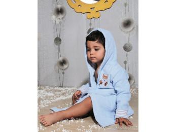 Халат детский махровый KARNA TEENY (2-3 года) - Голубой