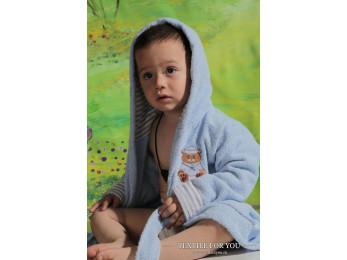 Халат детский махровый KARNA TEENY (4-5 лет) - Голубой
