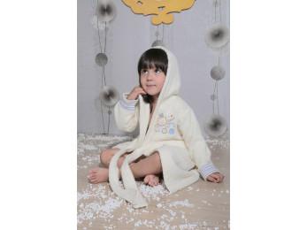Халат детский махровый KARNA TEENY (2-3 года) - Кремовый