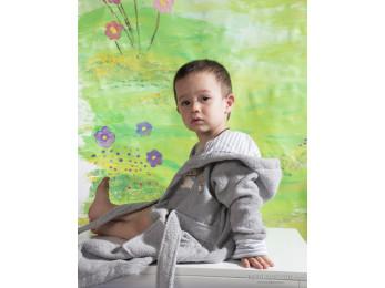 Халат детский махровый KARNA TEENY (2-3 года) - Серый